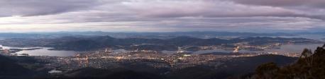 Dusk over Hobart - Tasmania, Australia