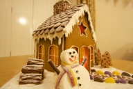 Gingerbread house built for Christmas 2013 - Oxford, UK