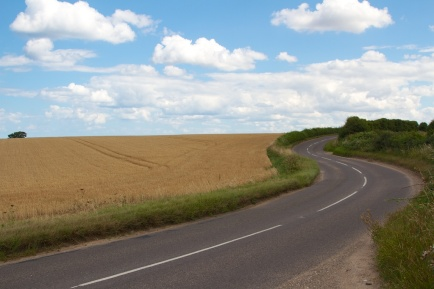 Country road - Norfolk, UK