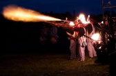 Musket fire at the Battle Proms - Blenheim Palace 2014