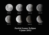 Partial lunar eclipse - HMB Endeavour, Australia