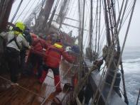 Rough weather aboard HMB Endeavour - Australia